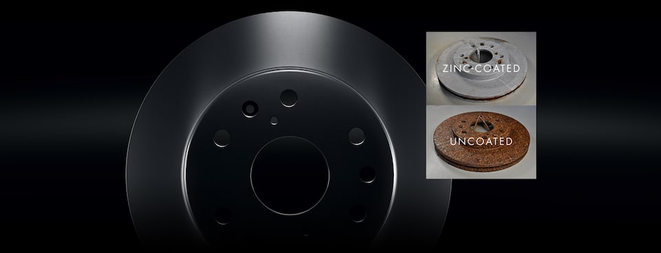 ACDelco Advantage Brake Rotors Resist Corrosion Better With An Oven-Baked Zinc Coating Versus Uncoated Brake Rotors That Are More Susceptible To Environmental Corrosion