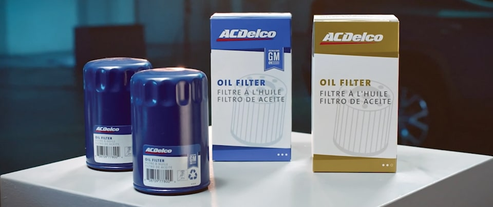 ACDelco Blue (OE) and Gold Oil Filters