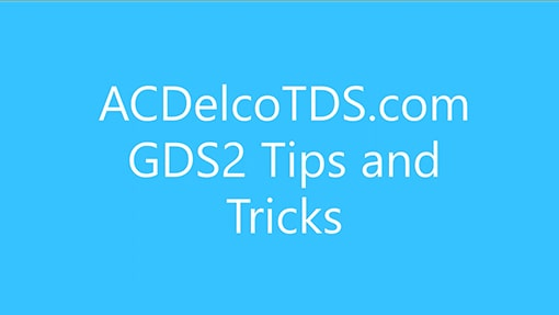 GDS2 Tips And Tricks: ACDelco Software Training Video