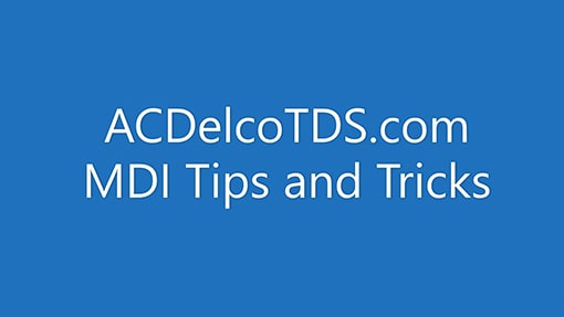 MDI Tips And Tricks: ACDelco Software Training Video