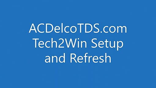 Tech2win Tips And Tricks: ACDelco Software Training Video