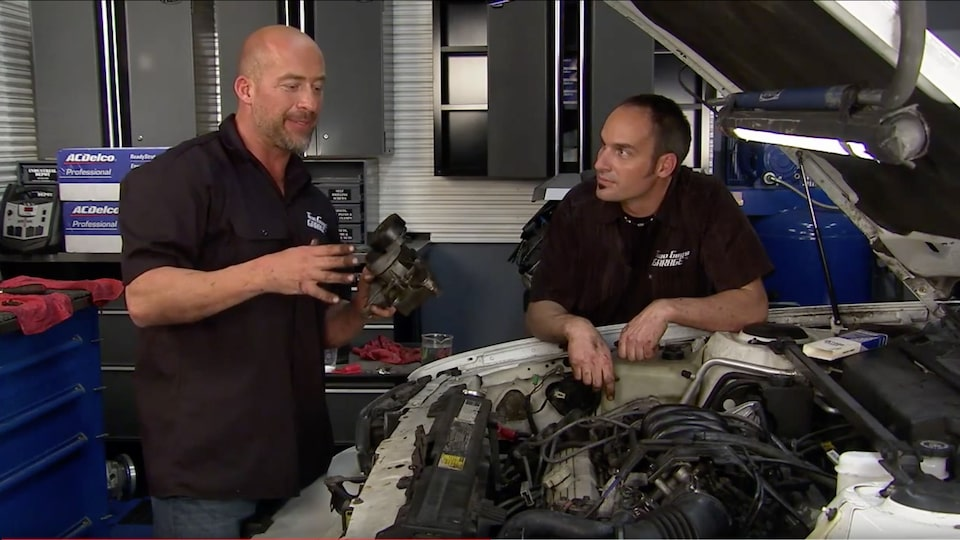 Two Guys Garage, Worn Tensioner Pulley Replacement: ACDelco Maintenance Video