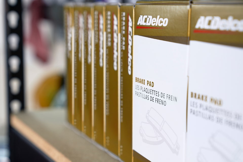 ACDelco Gold Branded Parts Packages on Store Self