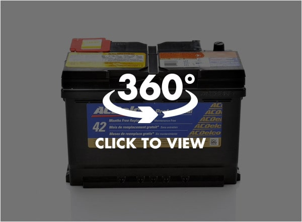 ACDelco Professional Gold Battery 360 View