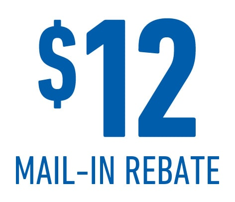 ACDelco offers a $12 mail-in rebate with the purchase of four ACDelco Iridium Spark Plugs