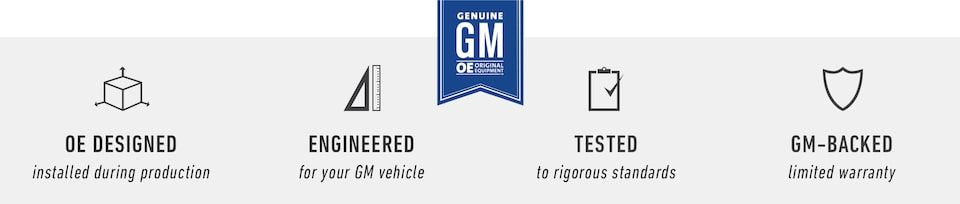 ACDelco And GM Genuine Parts are designed, engineered, tested, and GM-backed