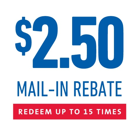ACDelco offers a $2.50 mail-in rebate on the purchase  of an ACDelco Silver (Advantage) Battery for shops and trade professionals redeemable up to 15 times.